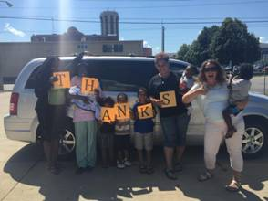 Car Club Donates Second Minivan to Contact Ministries in 2016!